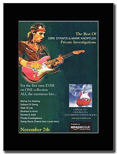 Novembre (di 7a generazione), motivo: Dire Straits, indagini Private Magazine Promo su un supporto, colore: nero