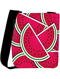Snoogg Watermelon Wedge Background Card In Vector Format Womens Carry Around Cross Body Tote Handbag Sling Bags
