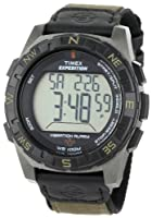 Timex Men's T49854 Expedition Rugged Digital Vibration Alarm Brown Nylon Strap Watch by Timex