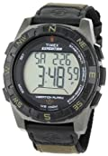 Timex Men's T49854 Expedition Rugged Digital Vibration Alarm Brown Nylon Strap Watch