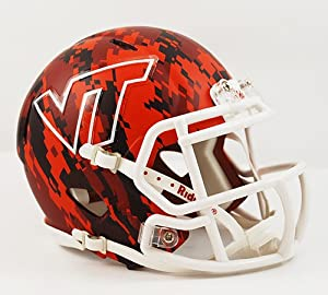 Creative Sports Enterprises RC-VIRGINIA-TECH-MR-Speed-FX Virginia Tech Hokies Riddell Speed Mini Football Helmet by Creative Sports