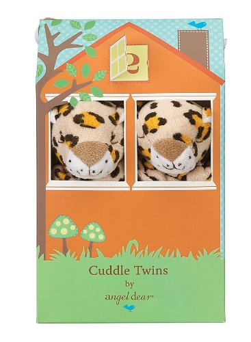 Angel Dear Cuddle Twin Set, Leopard Print front-314640