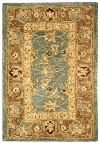 Safavieh Anatolia Collection AN549B-2 Handmade Blue and Brown Hand-Spun Wool Area Rug, 2-Feet by 3-Feet