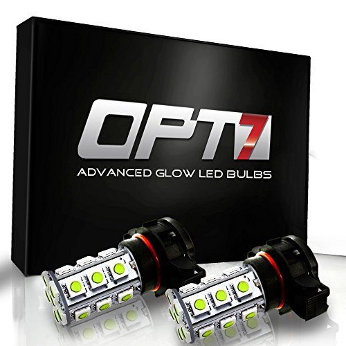 Opt7® 5202 Advanced Glow 27-Smd Led Fog Light Bulbs - 10000K Deep Blue - Plug-N-Play (Pack Of 2)