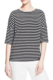 Striped Boxy T-Shirt [T50-2760-S]
