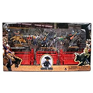 Amazon.com: M & F Western Boys' Bigtime Rodeo Bull Rider And Set Brown One Size: Toys & Games