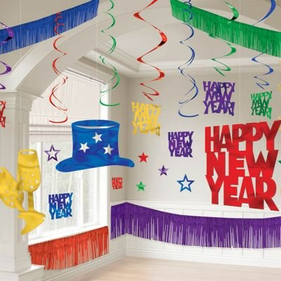 Amscan Jewel Tones Giant Happy New Year's Room Decorating Kit - 28 pieces