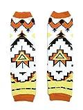 KWC - American Indian Tribal Orange Baby Toddler Leg Warmer (Triangle Tribe)