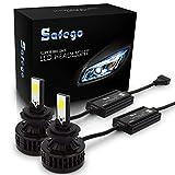 Safego LED ヘッドライト H7 フォグランプ 白 車検対応 66W 6000ルーメン/2本セット COB製 冷却ファン内蔵モデル 360度2面発光 高輝度 12V 6000K 自動車 汎用 交換 コントローラー付き