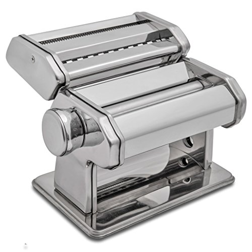 HuiJia Wellness 150 Pasta Maker Machine Stainless Steel (Pasta Machine Cutter compare prices)