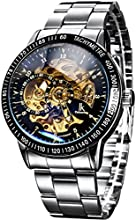 Comprar Alienwork IK Reloj Automático esqueleto mecánico Acero inoxidable negro plata 98226-11