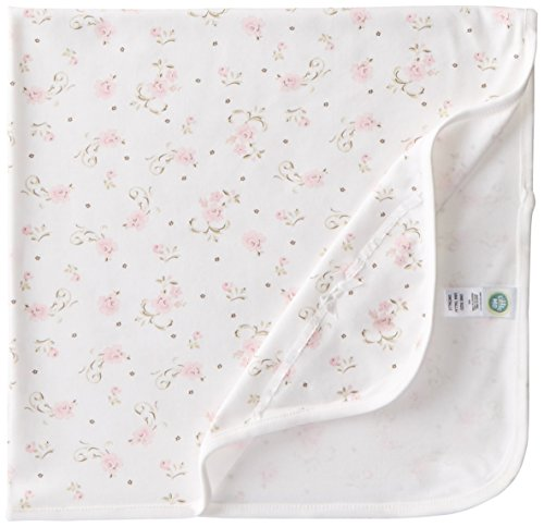 Little Me Baby-Girls Newborn Scroll Tag Along Blanket, Ivory Print, One Size