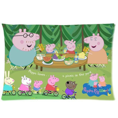 Brand New Custom Pillow Cover Case - Peppa Pig Pillowcase BLJP-1243 наволочка brand new 2015 mr right mrs al pillow case