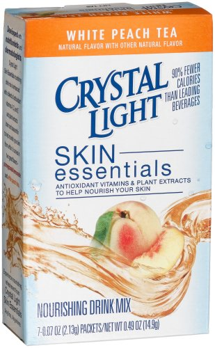 Crystal Light Skin Essentials, White Peach Tea, 7-Count Boxes (Pack of 6)