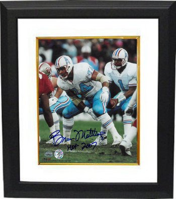 Bruce Matthews Autographed Houston Oilers 8x10 Photo
