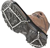 ICETrekkers Diamond Grip Traction Cleats, Large (Mens 9.5-12/Womens 10.5), Black