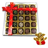 Chocholik Belgium Chocolate Gifts - Stunning Collection Of Truffles With Small Ganesha Idol - Diwali Gifts