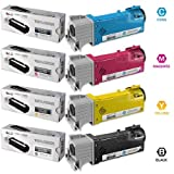 LD Dell Compatible 1320/1320c Set Of 4 High Yield Toner Cartridges: 1 Black KU052 Cyan KU053 Magenta KU055 And...