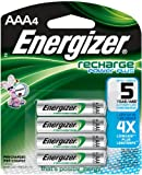 Energizer NH12BP-4 Rechargeable Nickel Metal Hydride AAA Battery, 4 Count Style: AAA Battery Size: 4 Count Portable Consumer Electronics Home Gadget