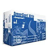 Sempermed Semperguard INIPFT Blue Medium Nitrile Rubber Powder Free Disposable General Purpose & Examination Gloves - Industrial Grade - Rough Finish - INIPFT-103 [PRICE is per BOX]