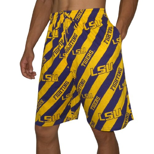 NCAA Mens LSU Tigers Cotton Sleepwear / Pajama Shorts - Multicolor (Size: L) at Amazon.com