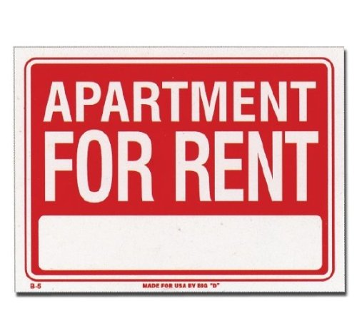 Apartment For Rent Sign (12 inch X 16 inch)