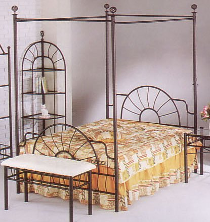 Modern Queen Canopy Bed