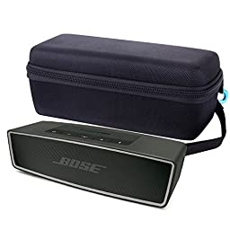 Zoukfox® Hard Case Travel Bag for Bose Soundlink Mini Bluetooth Portable Wireless Speaker - And for the Bose Mini Ii - Fits the Wall Charger, Charging Cradle. Fits with the Bose Silicone Soft Cover