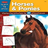 Draw and Color: Horses & Ponies