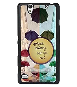 PRINTSWAG TEXT Designer Back Cover Case for SONY XPERIA C4