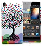 Accessory Master- Silicone Case for Huawei ascend P6 Tree with heart