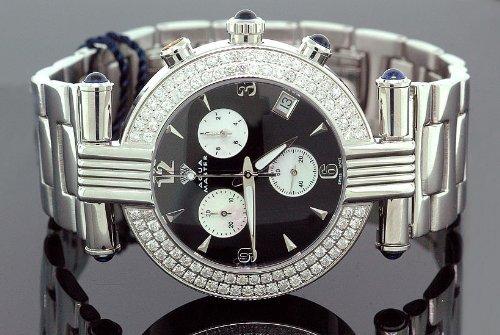 AQUA MASTER 0112MUU88AB - Reloj para mujeres, correa de metal color blanco