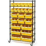 Commercial 8-Shelf 24-Bin Rack Storage System, NSF Certified