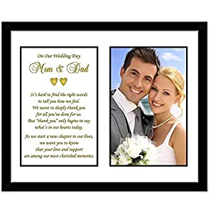 Wedding Gifts For Parents Amazon : Parent Thank You Wedding Gift - Thank You Poem From Both the Bride and ...