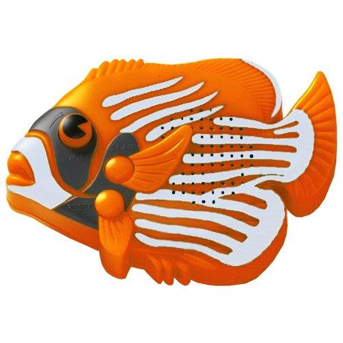 Steepletone angel fish waterproof shower fm radio orange for The fish fm