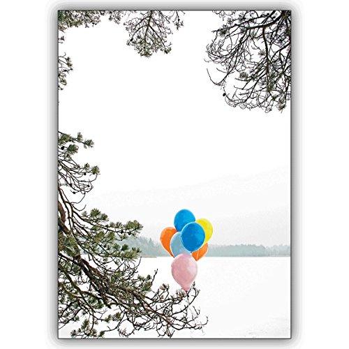 1 Geburtstagskarte: Verschicken Sie einen fröhlichen Winter Geburtstagsgruß mit Luftballons