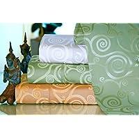 Empress Cotton Silk Scroll Pattern Sheet Set
