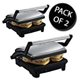 2x Russell Hobbs 17888 3-in-1 Panini Press, Grill & Griddle
