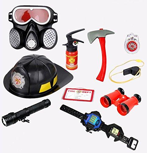 Fireman Gears Firefighter Role Play Toys Set For Kids 10pcs (Firefighter Gear For Kids compare prices)