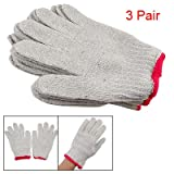 3 Pair Factory Protective ESD Anti-static Cotton Working Work Gloves