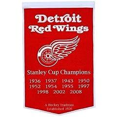 Buy Winning Streak Detroit Red Wings Dynasty Banner by Winning Streak