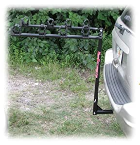 MotoGroup Bike Rack for Car, Truck, or SUV w/ Receiver Hitch - 4 Bike Carrier