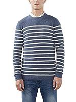 ESPRIT Jersey 106ee2i032 - Gestreift (Azul)