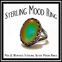 Classy Prong Sterling Silver Mood Ring w/ Breathtaking Colors