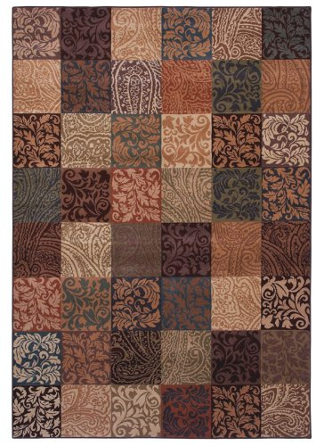 Shaw Rugs Inspired Design Paisley Block Light Multi Runner 2.60 x 7.90 Area Rug