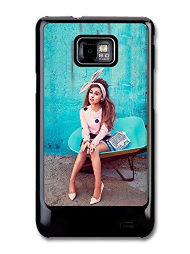 Ariana Grande Blue Background Popstar Singer custodia per Samsung Galaxy S2
