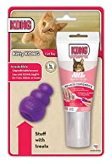 KONG Kitty KONG & Stuff'N Easy Treat Salmon 2.5 oz Combo Cats Kittens (CX500)