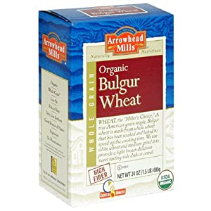 Arrowhead Mills Organic Hot Cereal, Bulgur Wheat, 24-Ounce Boxes (Pack of 4)