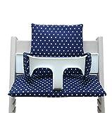 Blausberg Baby Cushion Star Design Blue for Tripp Trapp High Chair