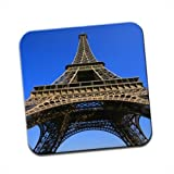 Eiffel Tower 1889 France Paris Single Premium Glossy Wooden Coaster